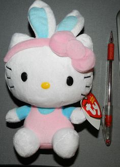 HELLO KITTY TY BEANIE #1 FOR EASTER!!!