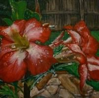 You have to see Acrylic Floral Painting In Progress by Micah Ganske!