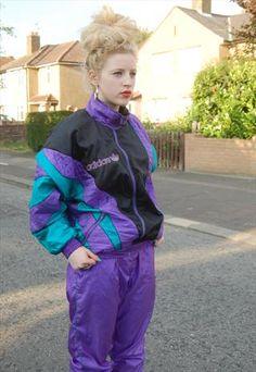 Vintage 80s Adidas Originals Shell Suit/Track Suit