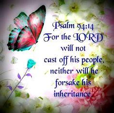 Psalm 94:14 KJV.