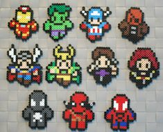 Image result for Superheroes perler beads