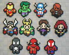 Marvel Comics perler bead sprites by srhgrc