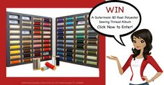 Here's a chance to win a Gutermann 80 Reel Polyester Sewing Thread Album!  Entries close 31st August midnight AEST. Click Here and Enter to Win. http://upvir.al/ref/A7785544