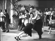 """Twice Blessed"" 1945. The music is Solid Potato Salad. ""That's what's called diggin' the jive."" Great swing dance scene."