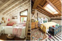 Buhardillas reconvertidas en dormitorios