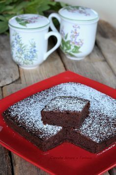 Torta vegan cacao e banane Healthy Low Carb Recipes, Healthy Cake, Healthy Protein, Vegan Breakfast Recipes, Vegan Recipes, Raw Vegan Desserts, Vegan Cake, Chocolate Desserts, Easy Desserts