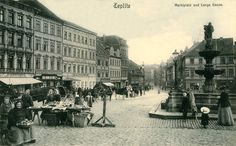 Czech Republic - In old Teplice (Teplitz) Old Photographs, Old Postcards, Rotterdam, Czech Republic, Louvre, Europe, City, Building, Travel