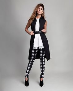 SEPARATES DRESSING-- L'Agence sleeveless zip front dress, Rag &Bone jean plaid skinny and Giuseppe Zanotti  Pointy Toe Mule