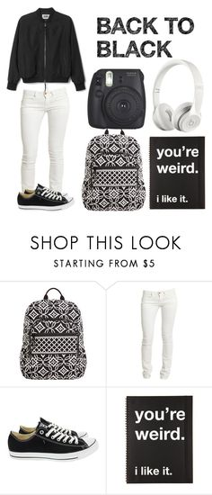 """""""Back To Black"""" by casualbandgirl ❤ liked on Polyvore featuring Vera Bradley, Beats by Dr. Dre, Replay, Converse, Fujifilm, StreetStyle, black, teen and blackandwhite"""