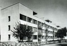 Prototype family houses on the completed Weissenhof Estate