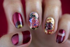 Chinese New Year 2015 Nail Art on A Positive Beauty! Happy Chinese New Year! :)  #ChineseNewYear #nailart #cultural