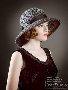 Great Gatsby Hat leopard print Cloche by BoringSidney Gatsby Hat, Gatsby Style, Final Test, Wearing A Hat, 1920s Flapper, I Shop, Etsy Shop, Hats, How To Wear