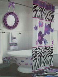 zebra bathroom decor