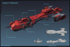 alphamecha:  Deimos Class Frigate by LeonovichDmitriy ...