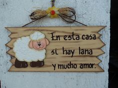 LETRERO EN MDF (MADEIRAS) macamno1@hotmail.com Painting Words, Fabric Painting, Painting On Wood, Arte Country, Country Crafts, Country Paintings, Punch Art, Vintage Paper, Folk Art