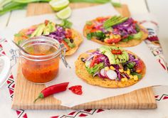 Gluten free tacos with fiery red pepper sauce make a perfect post-run recovery food.They are super quick to make,full of flavour,texture and plant goodness.