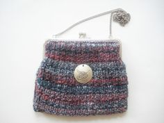 Hand Knitted Wool Purse With Tughra Sultan's by nilknitting