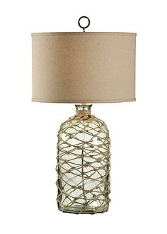 BOTTLE GREEN WITH ROPE Wildwood Lamps - Tommy Bahama Collection