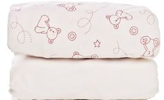 Fitted Cot Bed Sheets - 2 pack one plain, one teddy print Cot Bed Sheets, Cot Bedding, Baby Skin, Bed Pillows, Pillow Cases, Packing, Pillows, Bag Packaging