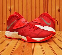 new arrival 255f8 9648b 2013 Nike Lebron Zoom Soldier VII 7 Size 9 - Red Silver Crimson - 599263 600