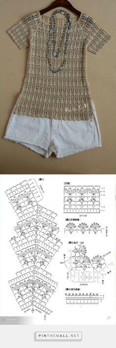 Tunic Gilet Crochet, Crochet Jacket, Crochet Blouse, Knit Crochet, Chrochet, Crochet Stitches Chart, Crochet Patterns, Blouse Models, Woven Wrap