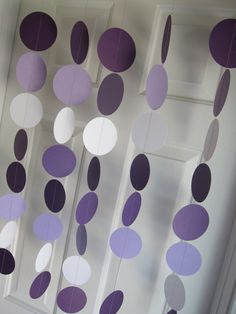 Paper Garland, Circles Dangling Decorations, Baby Shower Decorations, Birthday, Wedding, Showers