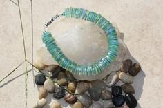 Blue and Green Shrink Plastic Beaded Bracelet, via Etsy.