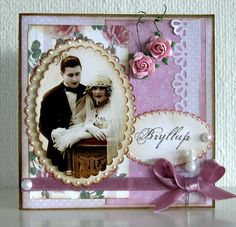 Bryllup ~ Softly colored heritage wedding page.