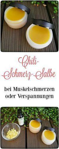 Chili-Schmerz-Salbe – bei Muskelschmerzen oder Verspannungen.
