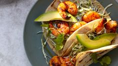 These Grilled Shrimp Tacos with Pickled Onions can be also made indoors by using a grill pan or cast-iron skillet. These Grilled Shrimp Tacos with Pickled Onions can be also made indoors by using a grill pan or cast-iron skillet. All You Need Is, Avocado Uses, Grilled Shrimp Tacos, Shrimp Taco Recipes, Taco Dinner, Healthy Grilling Recipes, Pickled Onions, Onion Recipes, Fresh Lime Juice