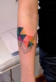 colour geometric tattoo