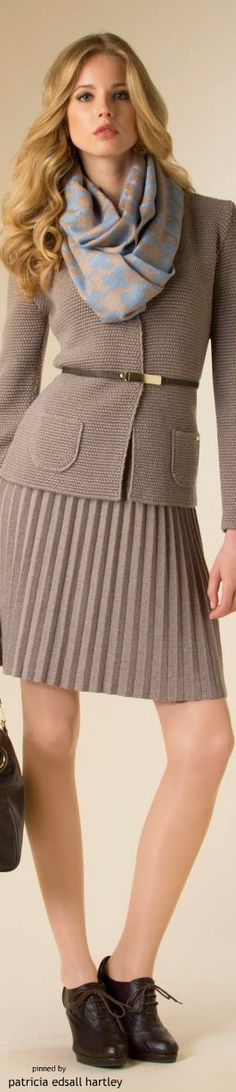 Luisa Spagnoli - FW 2015  women fashion outfit clothing style apparel @roressclothes closet ideas