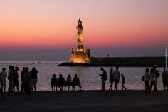 Lighthouse, Old harbor, Chania, Crete, Greece