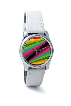 Abstract Art Pattern Multicolored Wrist Watch
