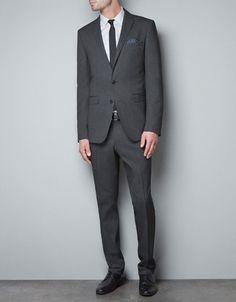 DIAGONAL WEAVE BLAZER - Suits - Man - ZARA