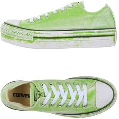 Converse Limited Edition Low-tops & Sneakers (73500 SYP) ❤ liked on Polyvore featuring shoes, sneakers, light green, round cap, flatform shoes, converse sneakers, low profile sneakers and low profile shoes