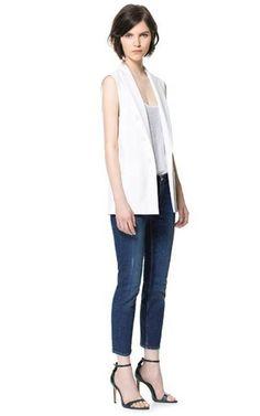 Colete Feminino Alfaiataria Branco - Compre Online | DMS Boutique