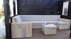 Lounge bank van steigerhout
