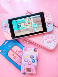 Nintendo Lite, Nintendo Switch Case, Super Nintendo, Nintendo Switch Accessories, Gaming Accessories, Kawaii Games, Pink Games, Mundo Dos Games, Gaming Room Setup