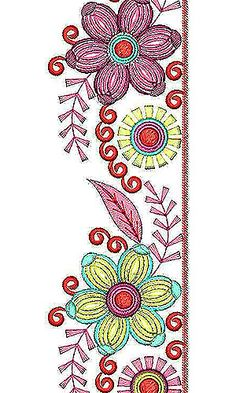 Colorful Lace Embroidery Design