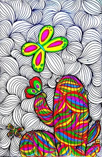 Inspired by the artist Matea Sincovec I like this lady s style! Its like a psychedelic cactus. I love the patterns and colors she p. Cactus Drawing, Cactus Art, Kunstjournal Inspiration, Art Journal Inspiration, 7th Grade Art, Ecole Art, Learn Art, Middle School Art, Autumn Art