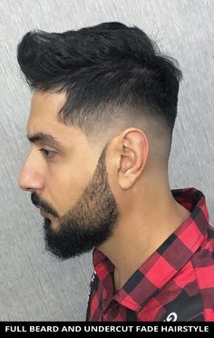 This incredible full beard and undercut fade hairstyle for the ultimate inspiration! Learn what stylists have to say about this style and the rest of these 22 Trendiest Ways to Have Beard Fade Haircuts for an Incredible Look. // Photo Credit: @barber_gin on Instagram Undercut Fade Hairstyle, Fade Haircut, Beard Fade, Full Beard, Latest Hairstyles, Hairstyles Haircuts, Rugged Look, Beard Styles For Men, Barber