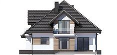 Elewacja prawa projektu Opałek III N 2G+ Pool Houses, Home Fashion, Gazebo, House Plans, Villa, Floor Plans, Exterior, Outdoor Structures, House Design