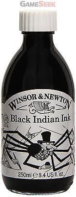 Winsor and #newton #250ml bottle water #resistant drawing ink - black indian,  View more on the LINK: http://www.zeppy.io/product/gb/2/172255666426/