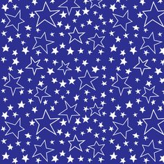 white_stars_over_blue fabric by bzbdesigner on Spoonflower - custom fabric
