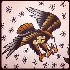 Nice old school eagle tattoo