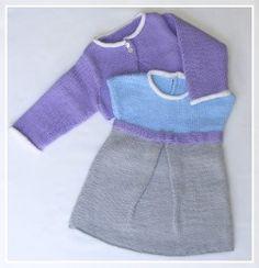 Tricots pour bébé : robe et bolèro - Faire part naissance et faire-part mariage originaux de qualité artisanale