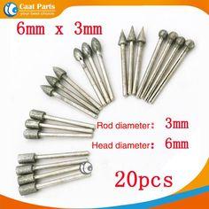 Tools 20pcs Diamond Tools Dremel Diamond Burs Abrasive Diamond Grinding Wheel Disc File Router Bit Polishing For Granite Stone Glass