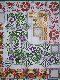Ukrainian Cross Stitch Embroidery Flower Patterns FOR Tablecloth Pillow 57 Varia | eBay: