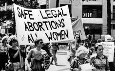 Backlash and Feminism: Photograph from an abortion protest march in New York City, 1977.